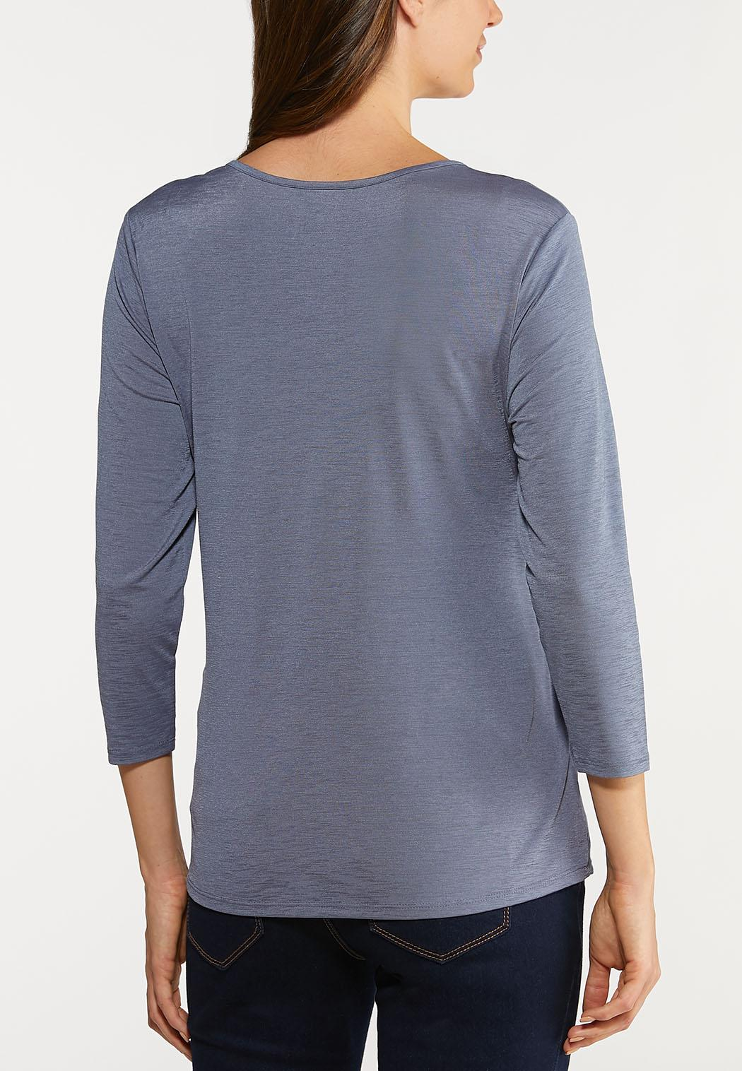 Plus Size Asymmetrical Cinch Top (Item #44084306)