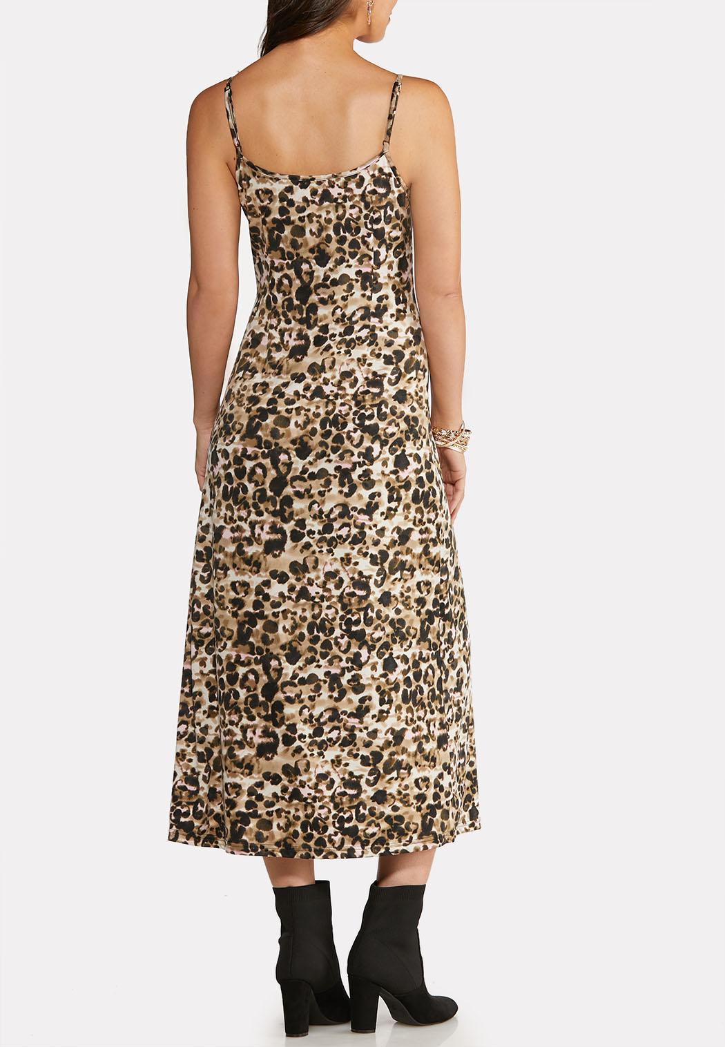 Leopard Slip and Sweater Dress Set (Item #44084427)