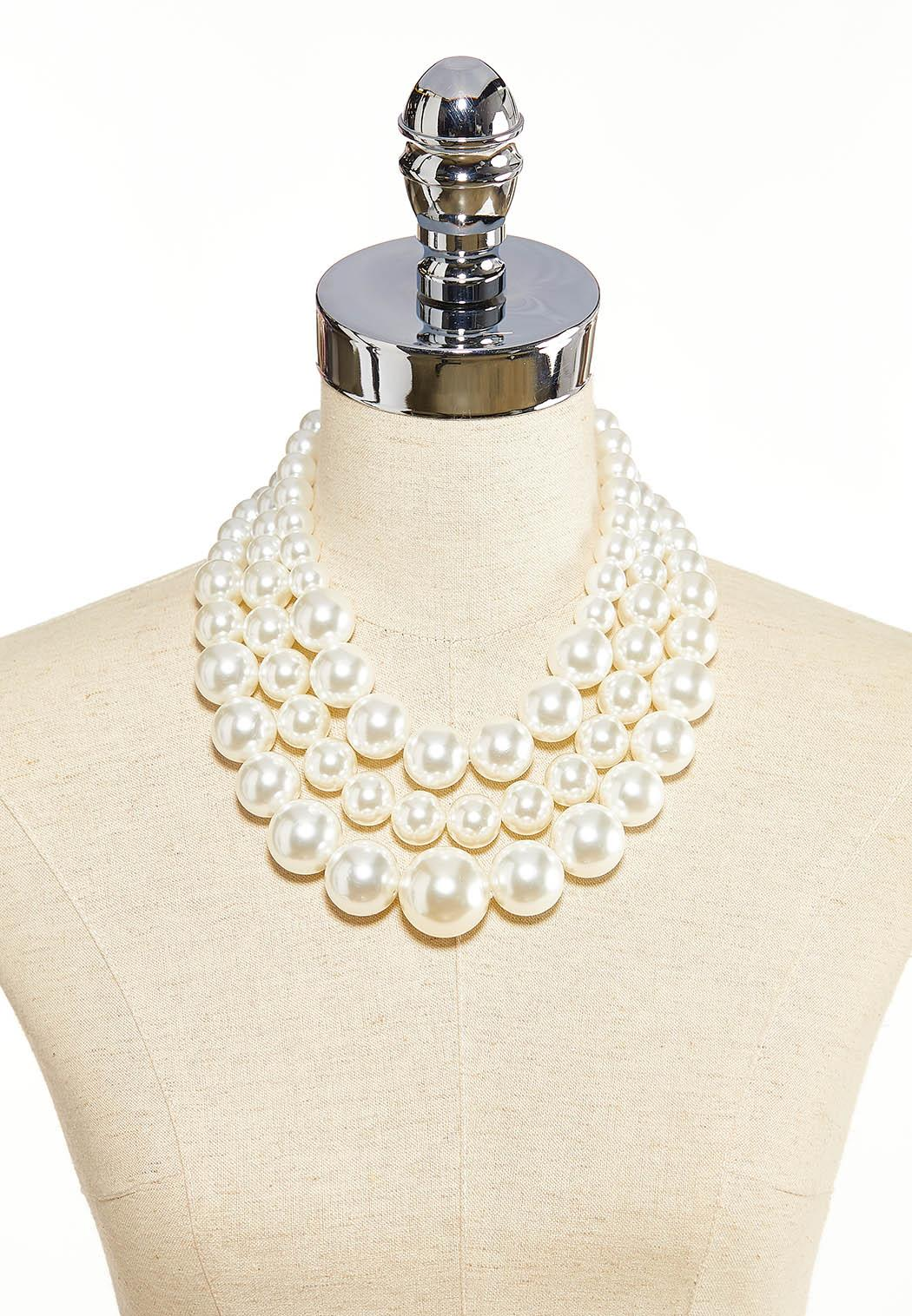 Layered Chunky Pearl Necklace (Item #44085590)