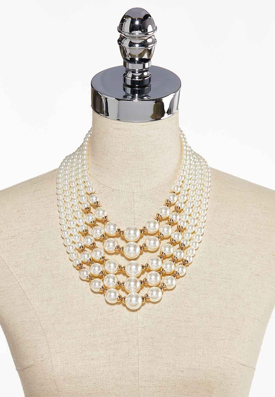 Layered Pearl Necklace (Item #44085606)