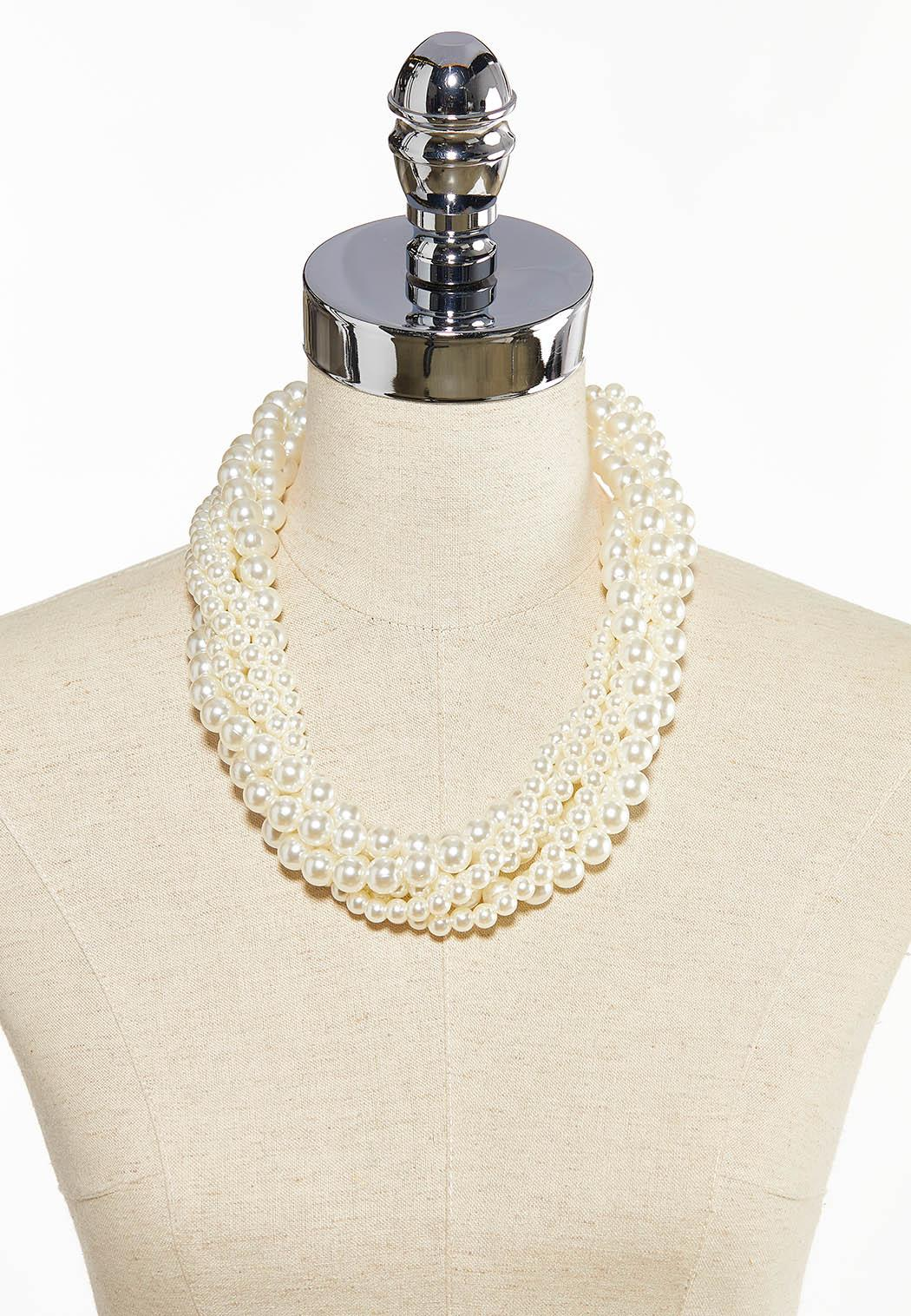 Twisted Pearl Necklace (Item #44085660)