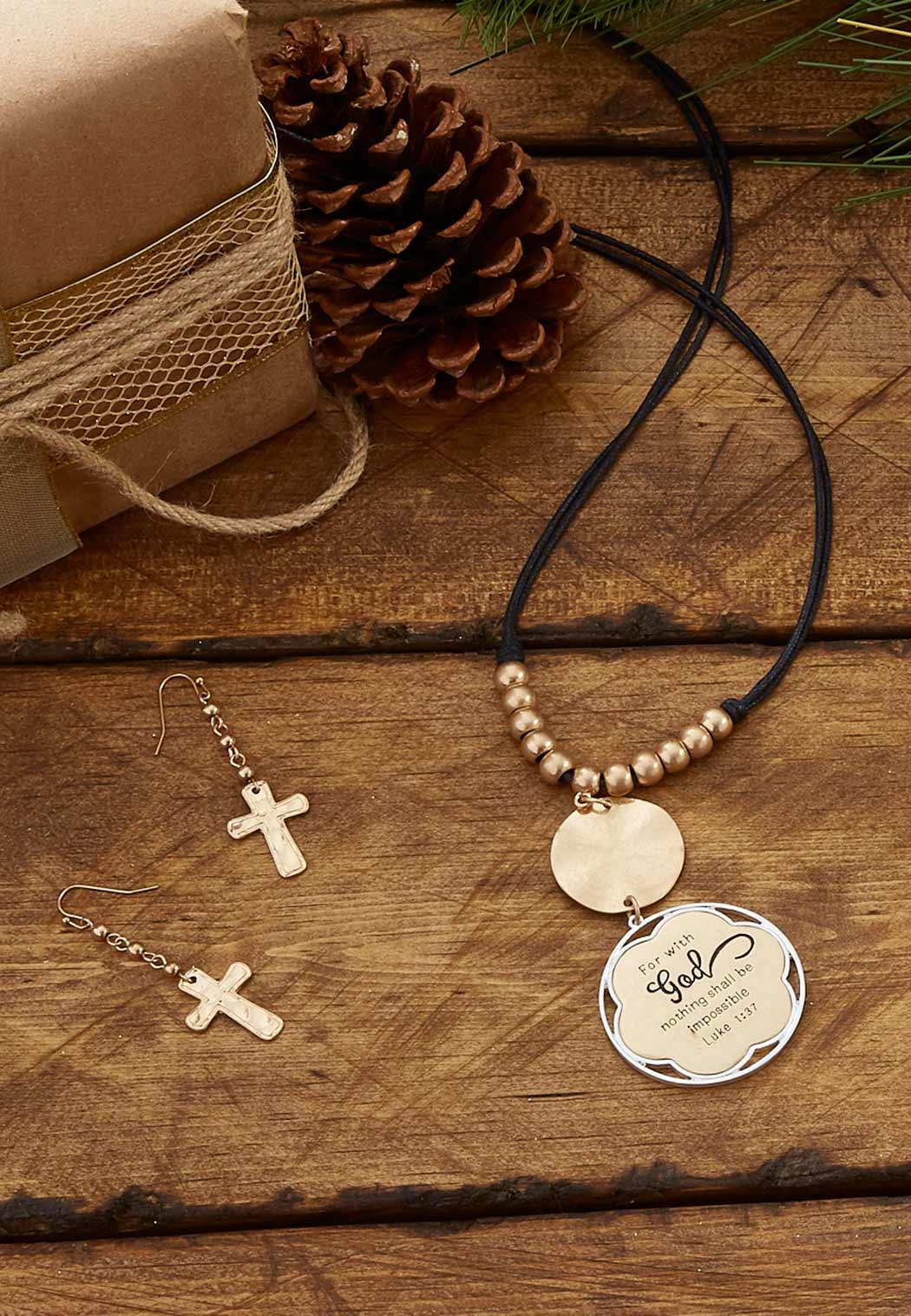 Engraved Inspirational Cord Necklace (Item #44086289)
