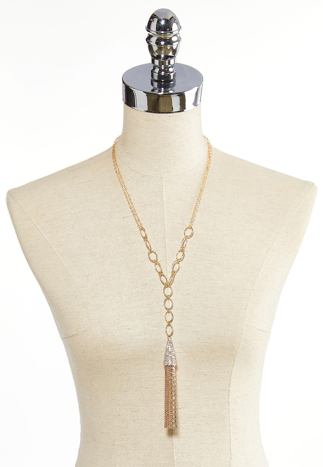 Pave Chain Tassel Necklace (Item #44086358)