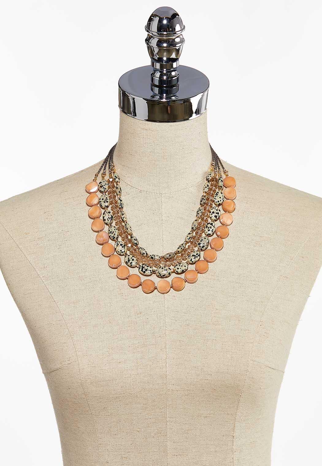 Layered Mixed Bead Necklace (Item #44086360)