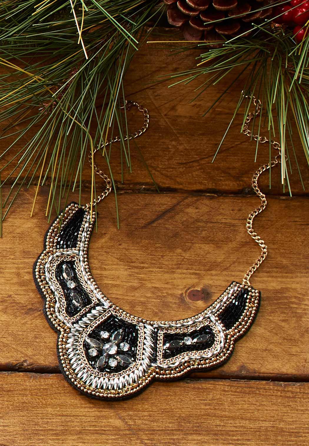 Neutral Bead Bib Necklace (Item #44086499)
