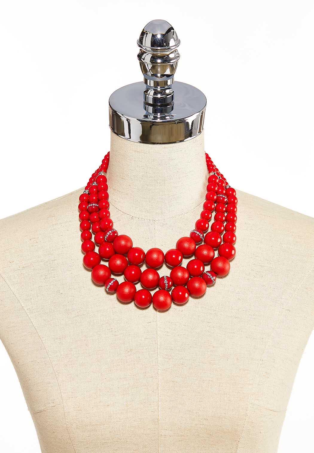 Layered Bead Statement Necklace (Item #44086537)