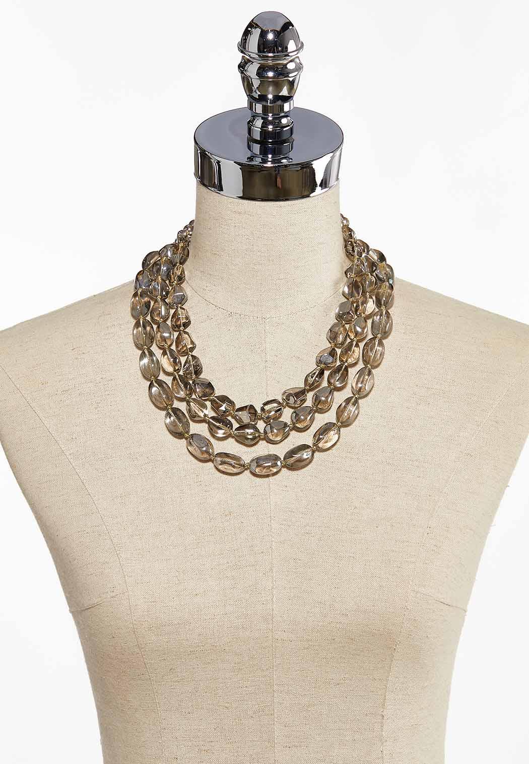 Triple Row Glass Bead Necklace (Item #44086574)