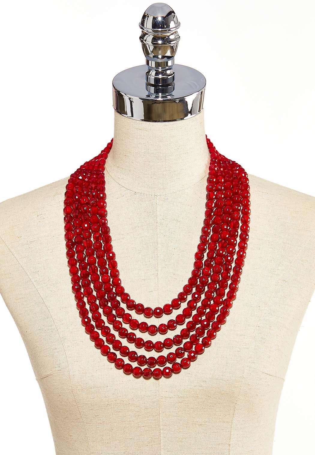 Multi Layer Long Beaded Necklace (Item #44086604)