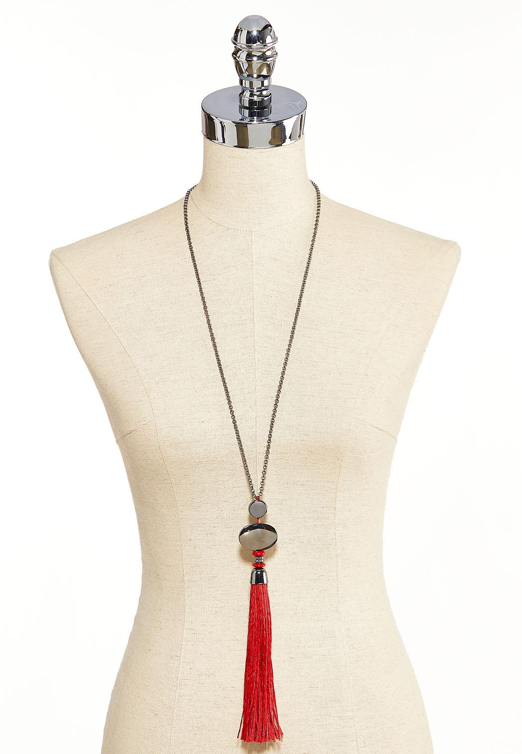 Long Tassel Pendant Necklace (Item #44086650)