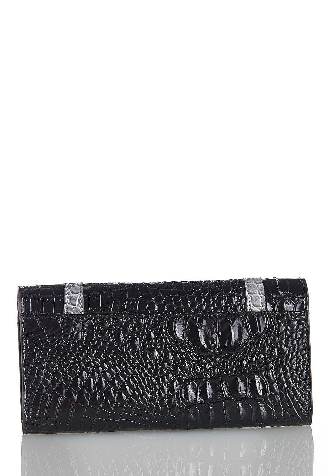 Tri-Tone Croc Wallet (Item #44086765)