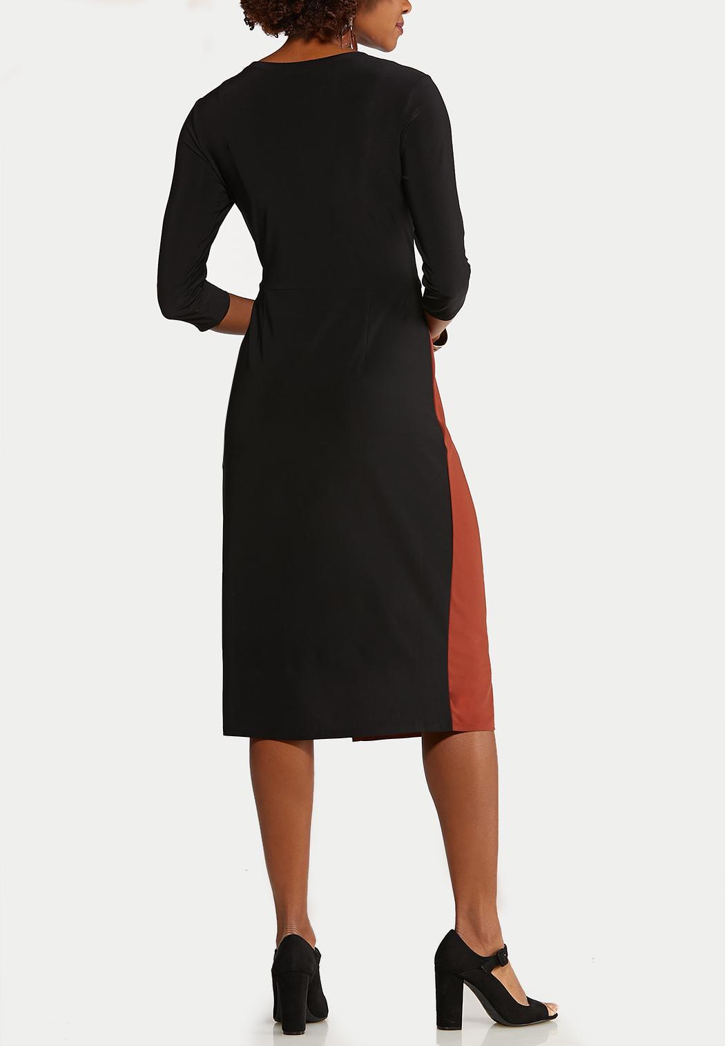 Colorblock Tie Front Dress (Item #44087454)
