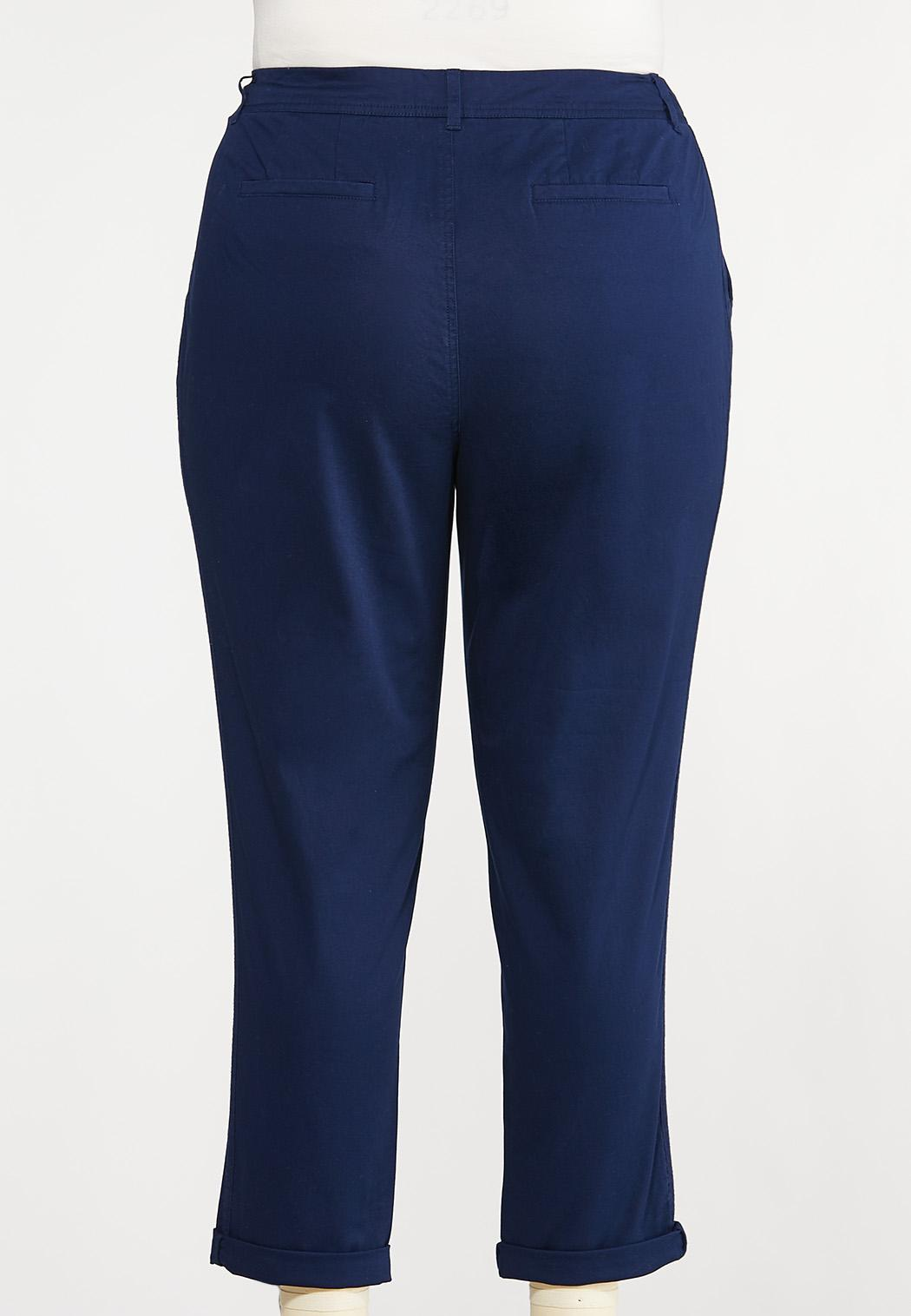 Plus Size Chino Ankle Pants (Item #44087838)
