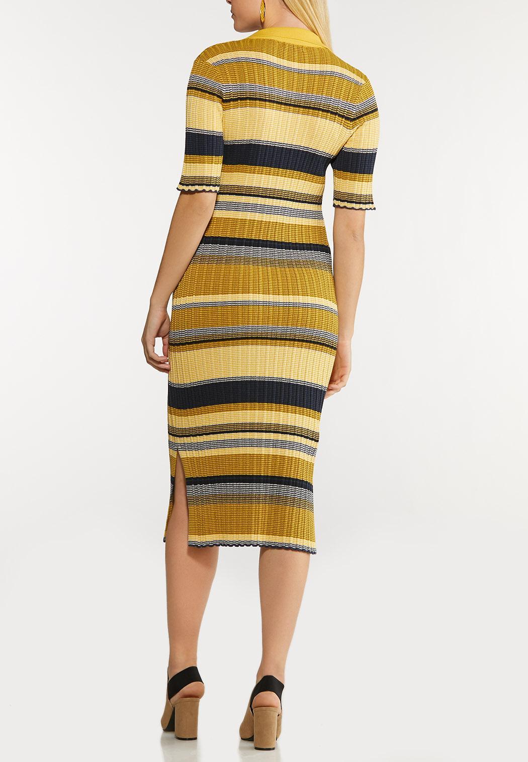 Plus Size Striped Sweater Dress (Item #44088566)