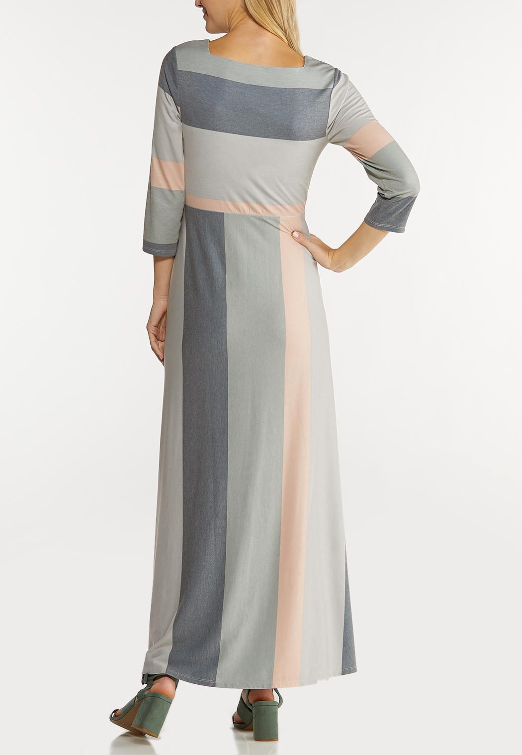 Square Neck Striped Maxi Dress (Item #44088574)