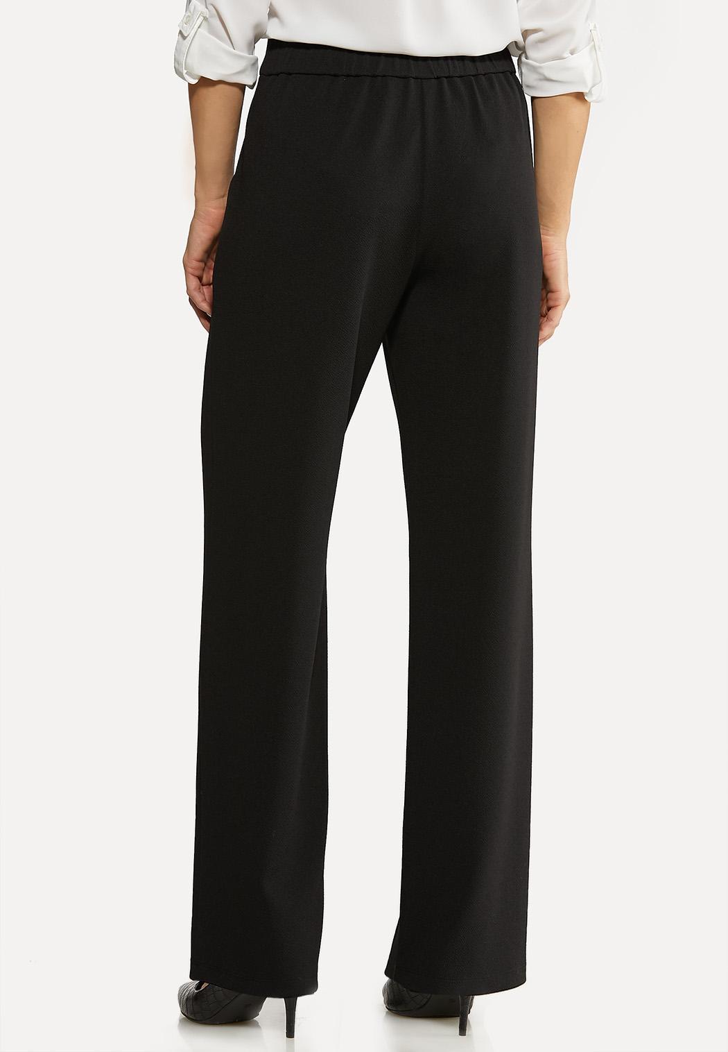 Petite Textured Button Trouser Pants (Item #44088643)