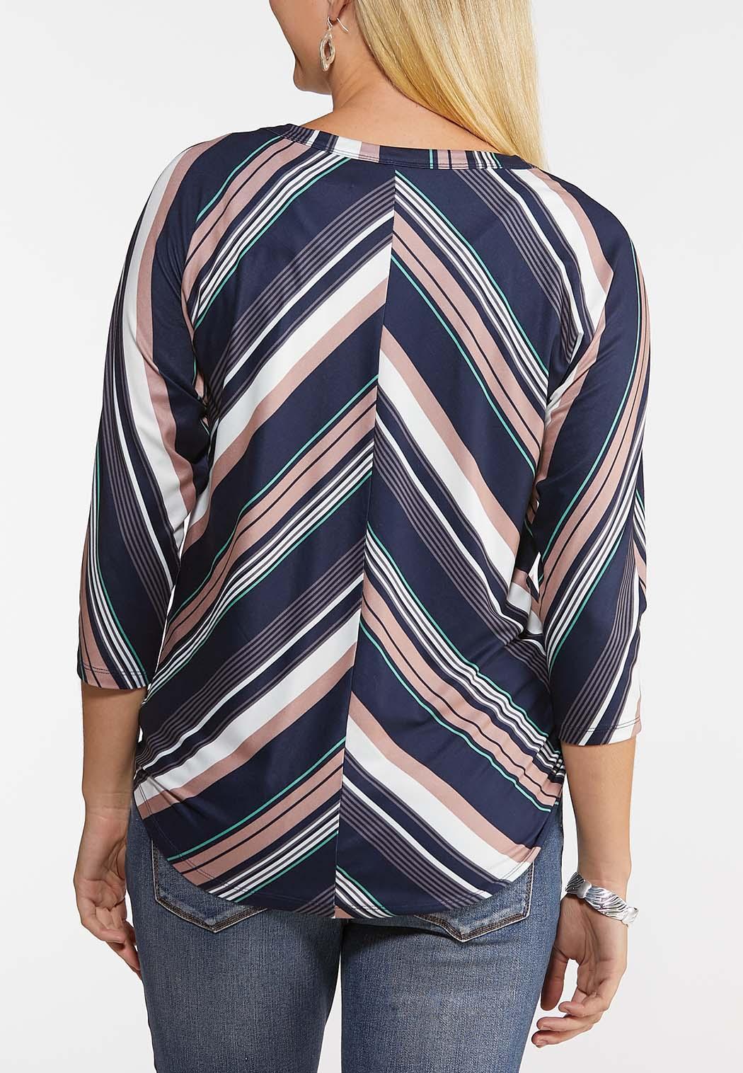 Mitered Multi Stripe Top (Item #44088977)