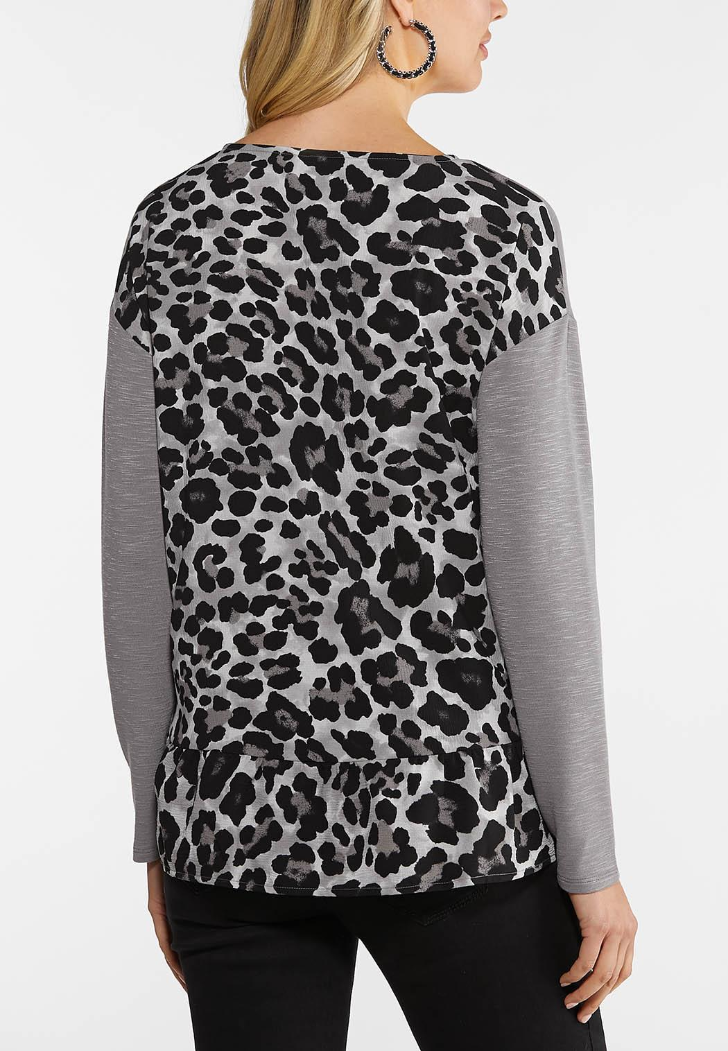 Plus Size Leopard Back top (Item #44089163)