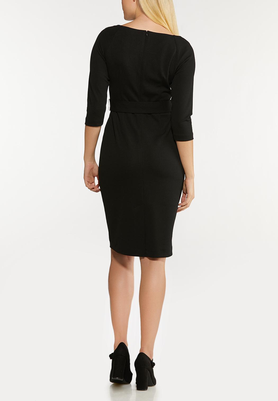 Black Belted Shift Dress (Item #44089363)