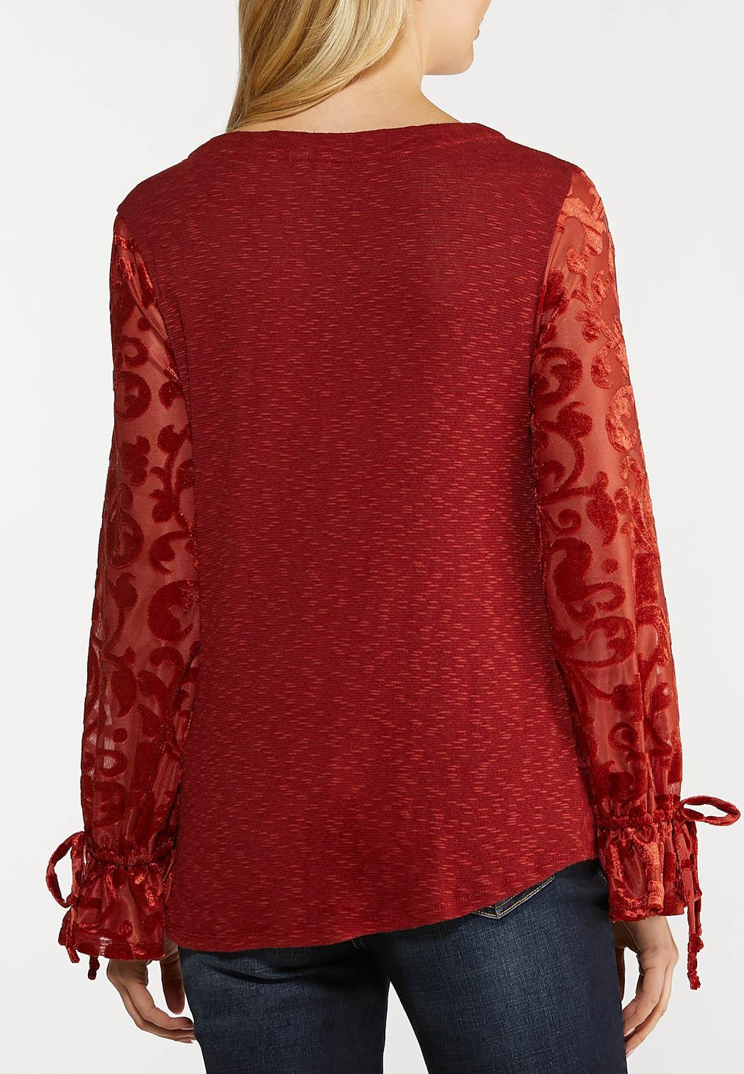 Jacquard Tie Sleeve Top (Item #44089364)