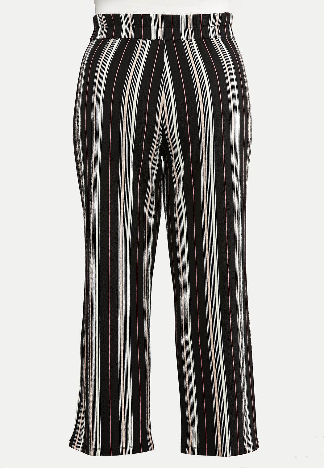Plus Size Deco Rose Stripe Pants (Item #44089521)