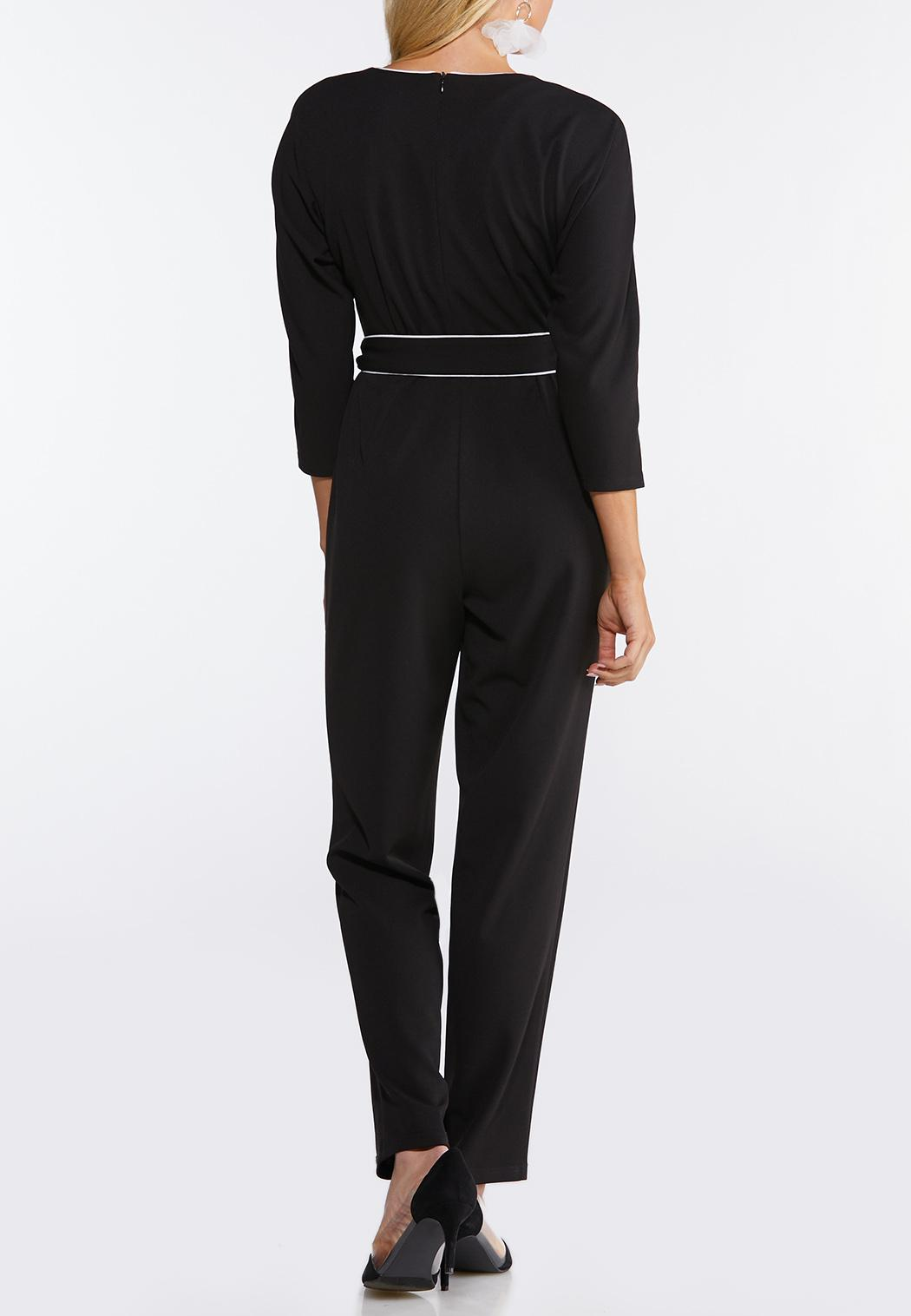 Plus Size Black And White Jumpsuit (Item #44090056)