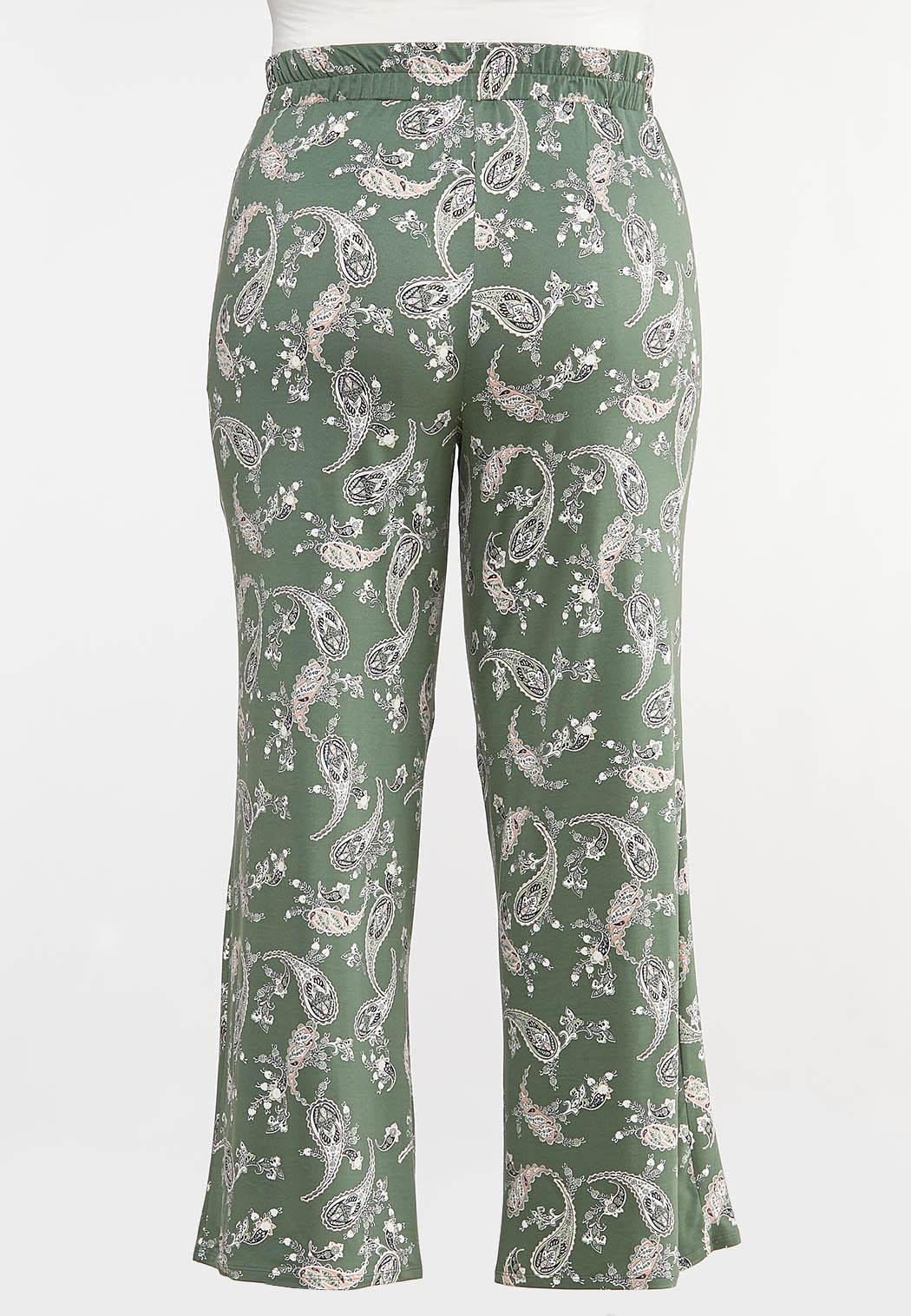 Plus Petite Green Paisley Palazzo Pants (Item #44091146)