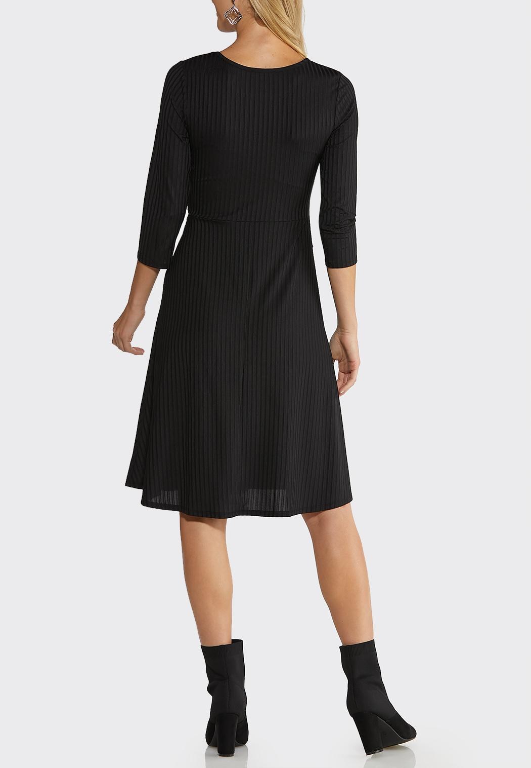 Ribbed Knotted Waist Dress (Item #44091209)
