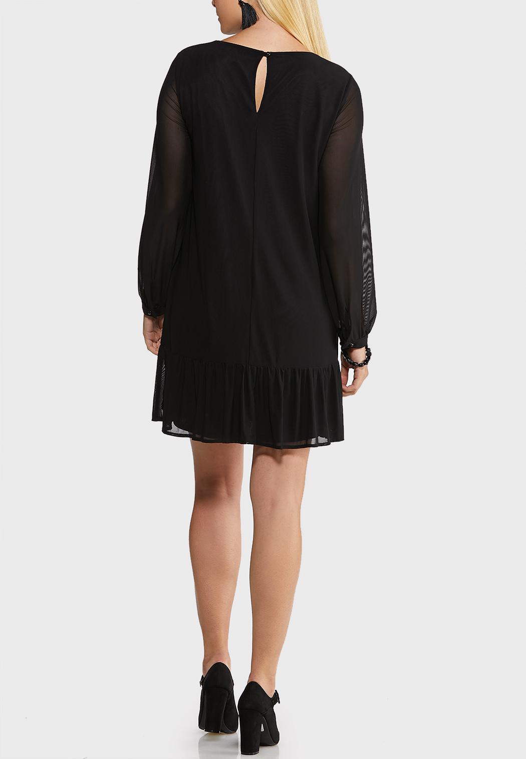 Flounced Hem Shift Dress (Item #44091416)
