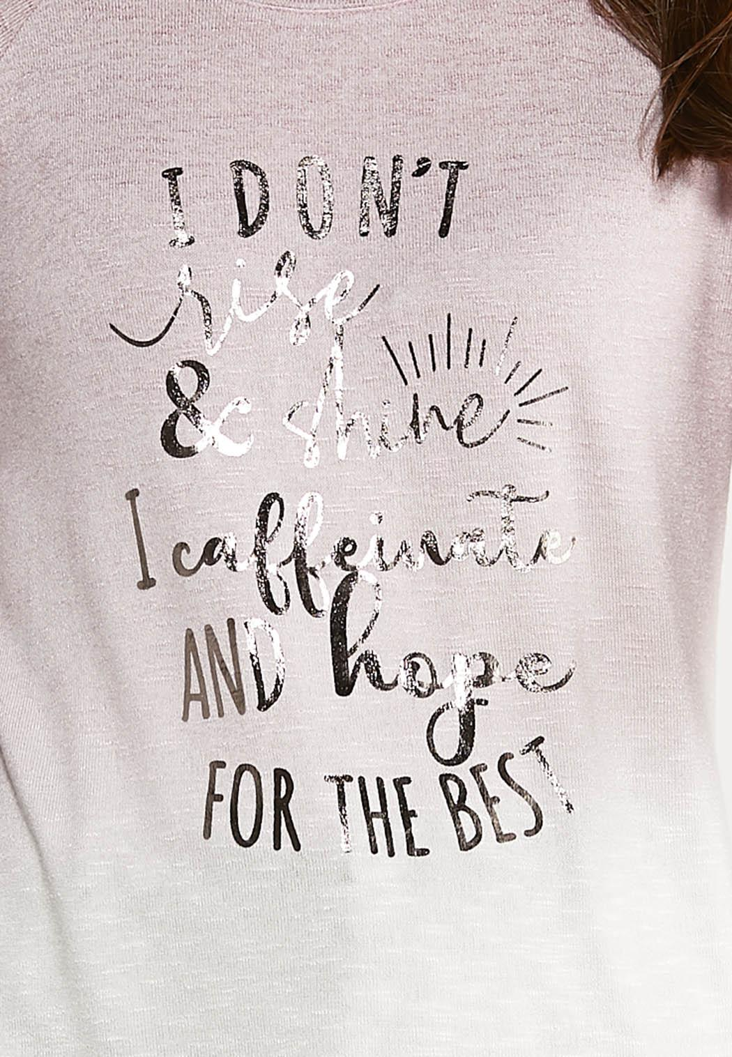 Plus Size Funny Caffeinate And Hope Tee (Item #44091992)