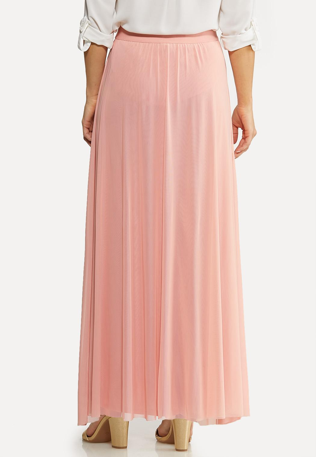 Plus Size Mesh Maxi Skirt (Item #44092258)