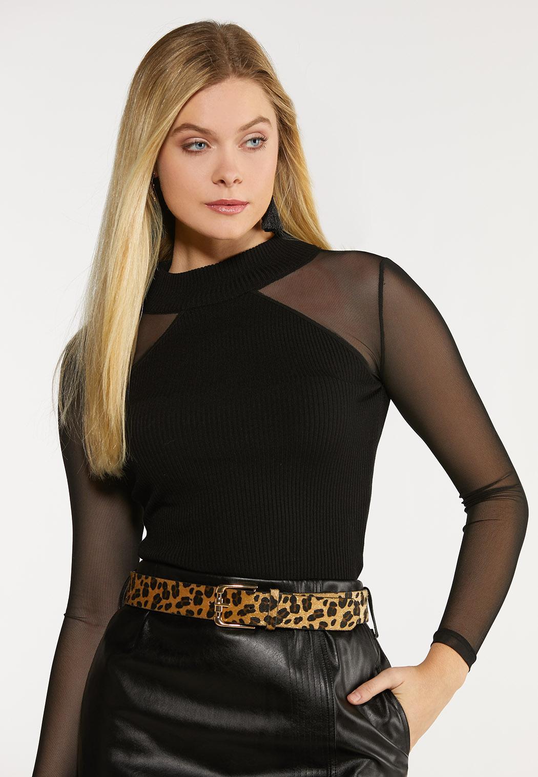 Plus Size Leopard Faux Fur Belt (Item #44092465)