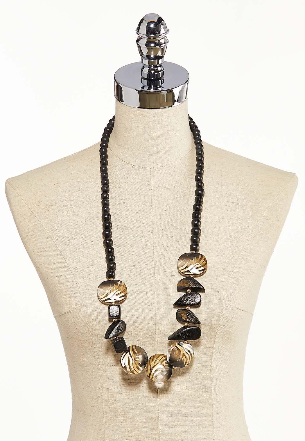 Animal Wood Bead Necklace (Item #44092492)