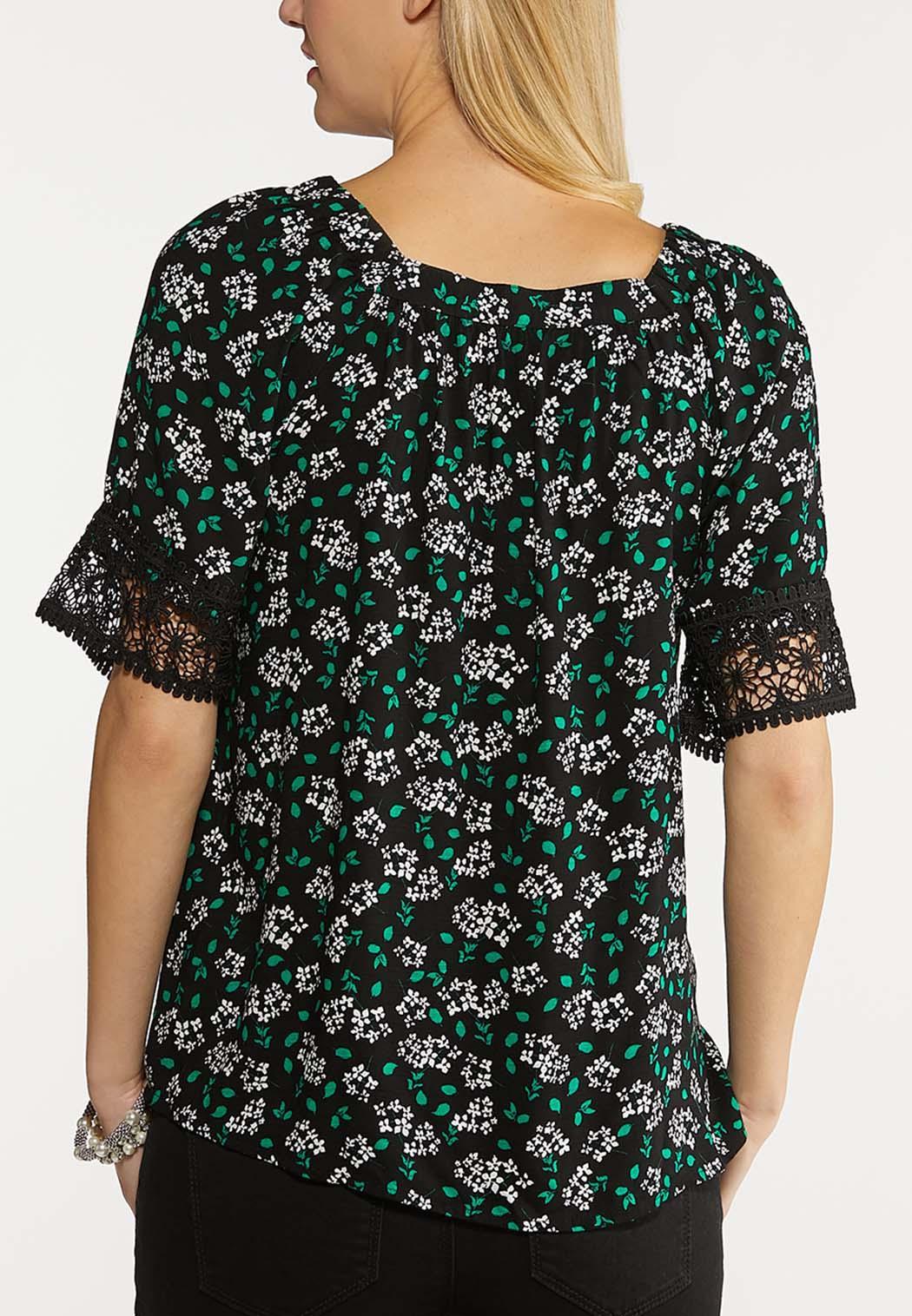 Floral Square Neck Top (Item #44093282)