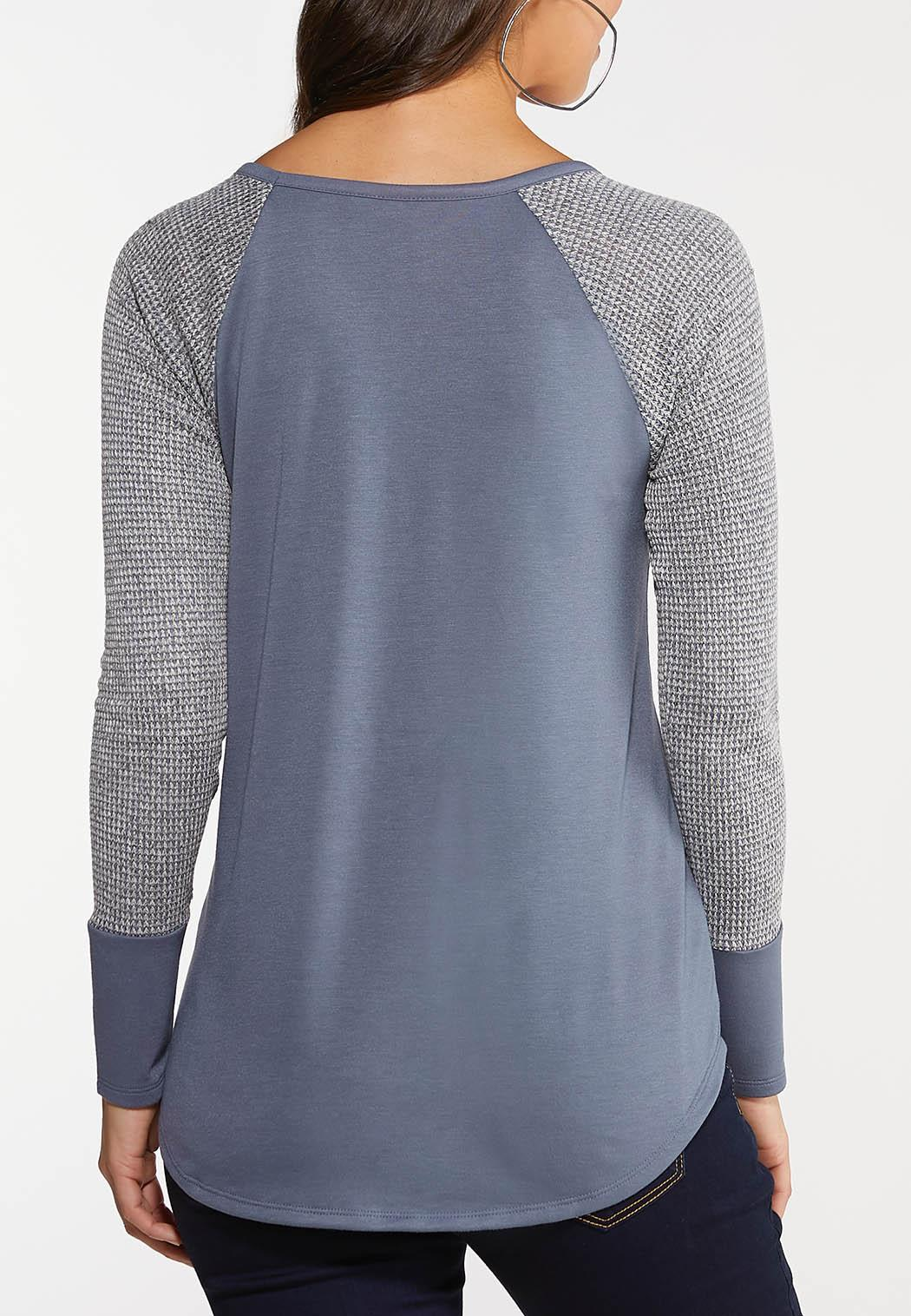Plus Size Thermal Terry Top (Item #44093408)