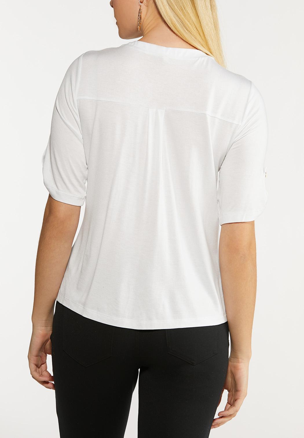 Plus Size Button Down Utility Shirt (Item #44094543)