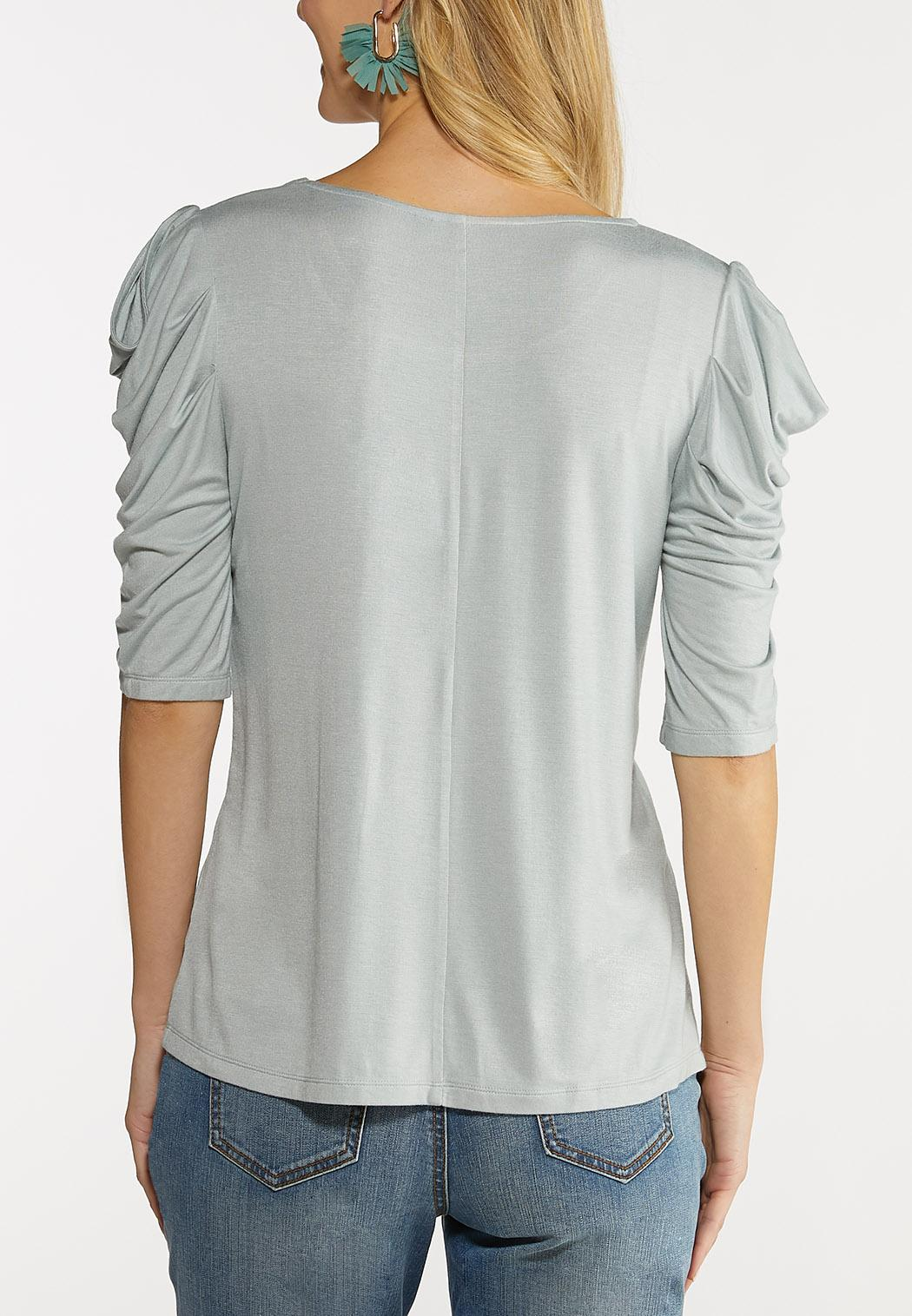 Plus Size Draped Cold Shoulder Tee (Item #44094599)