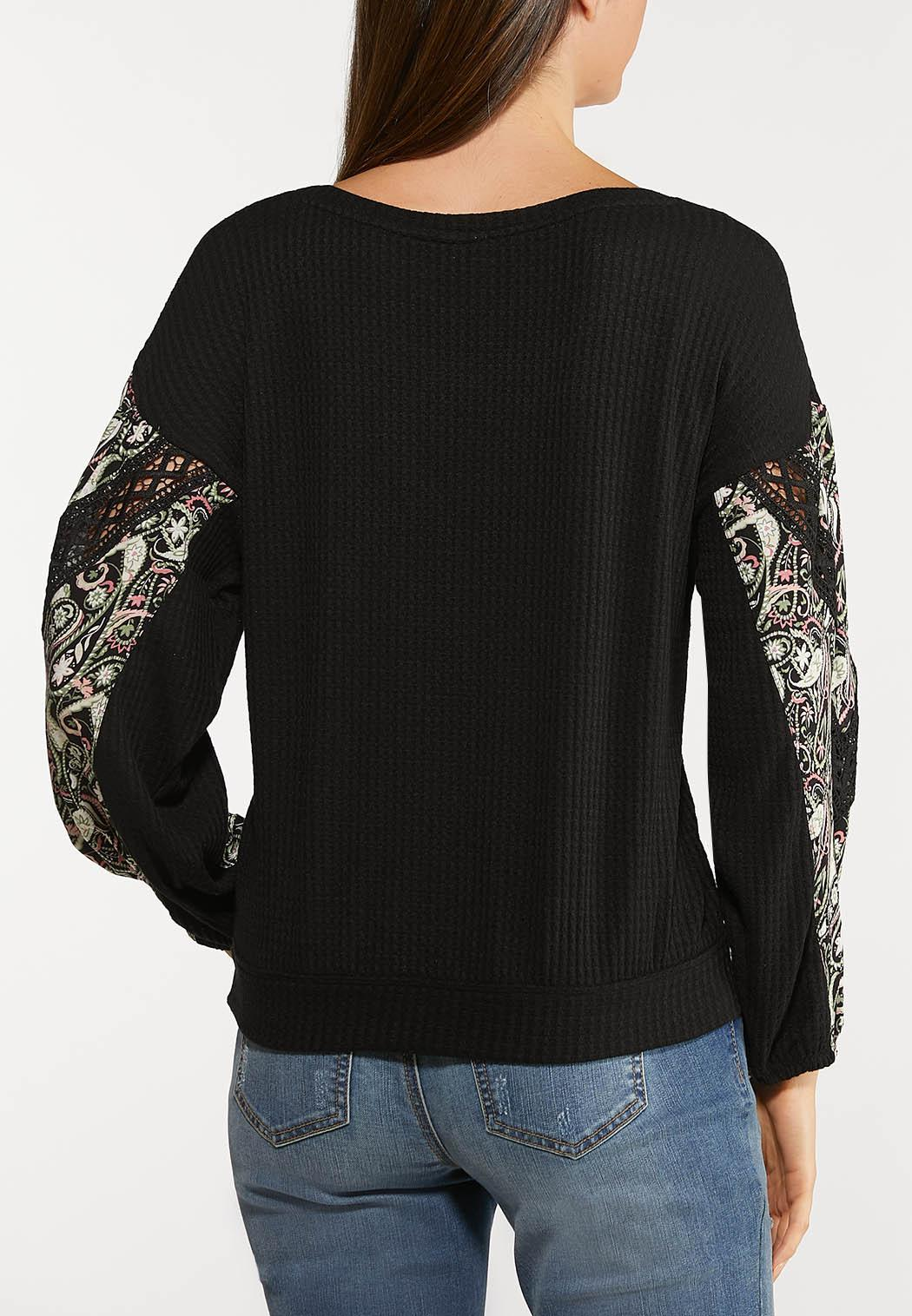 Paisley Crochet Thermal Top (Item #44094665)