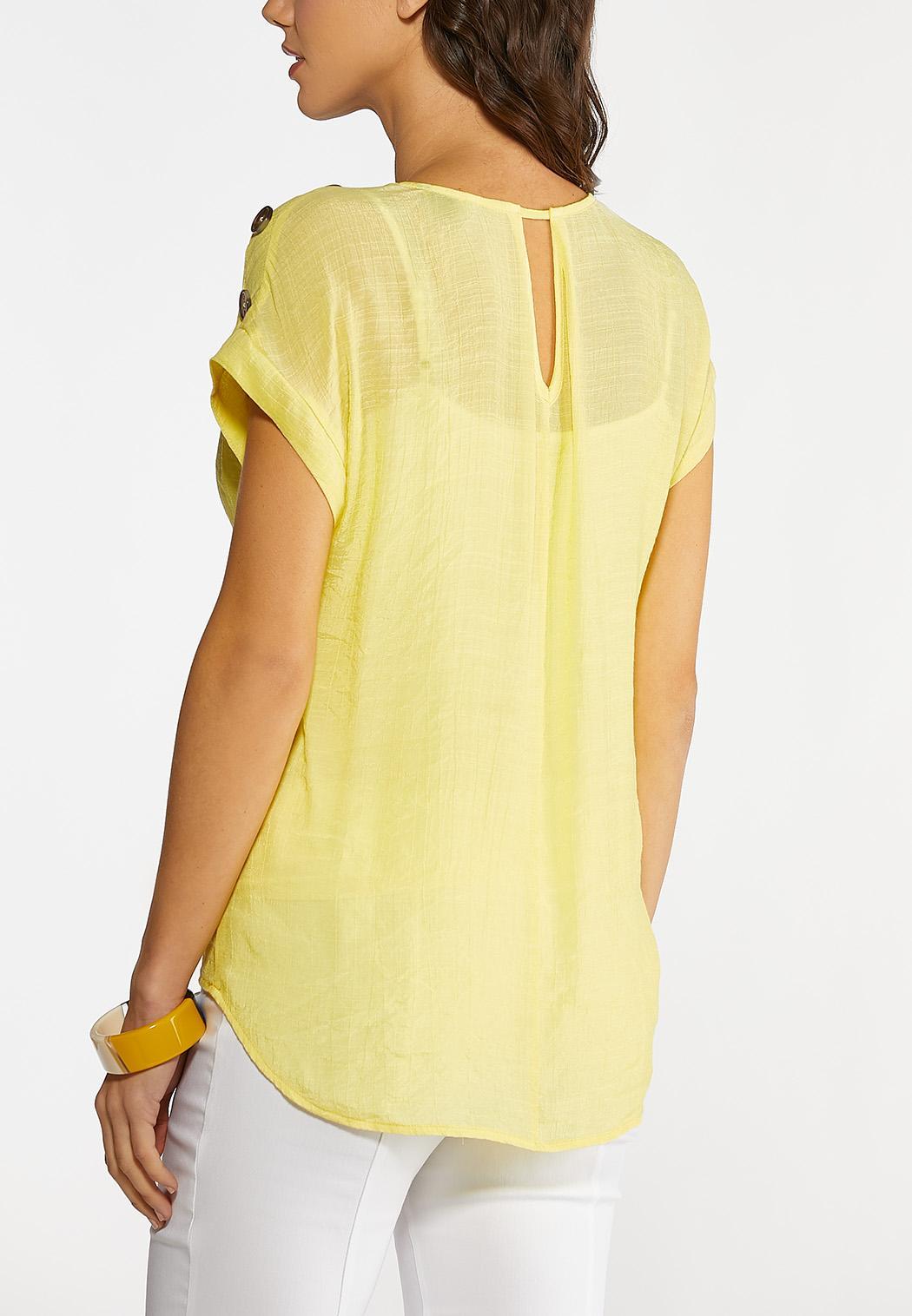 Plus Size Button Dolman Sleeve Top (Item #44094909)