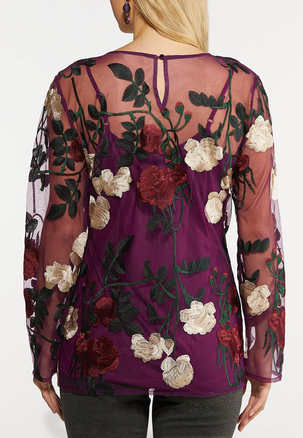 Mesh Embroidered Top (Item #44094987)