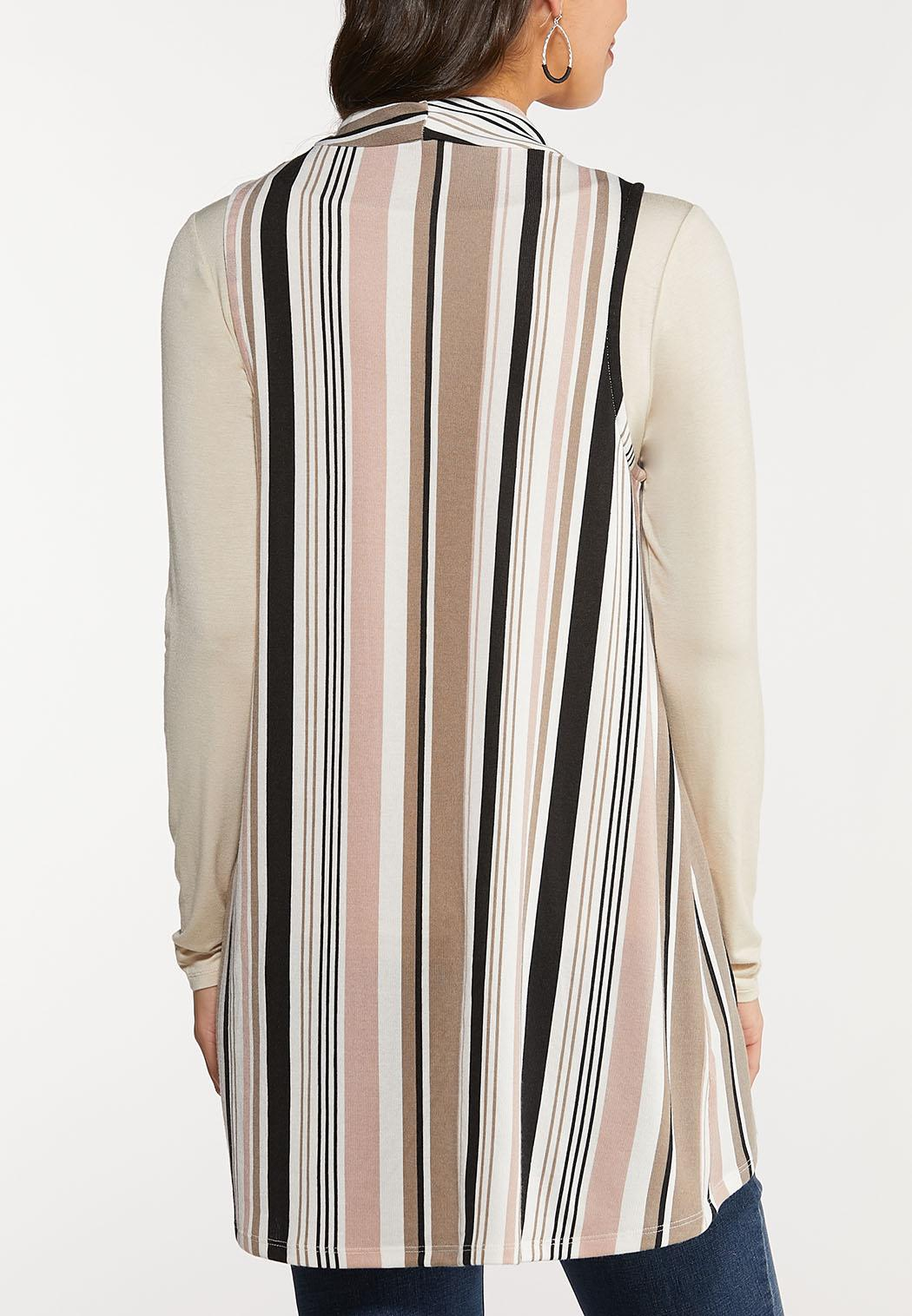Plus Size Stripe Vest (Item #44095013)