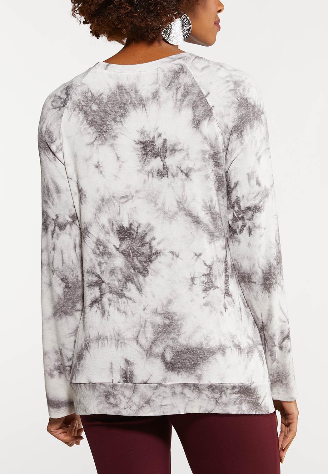 Plus Size Tie Dye Cross Top (Item #44095409)
