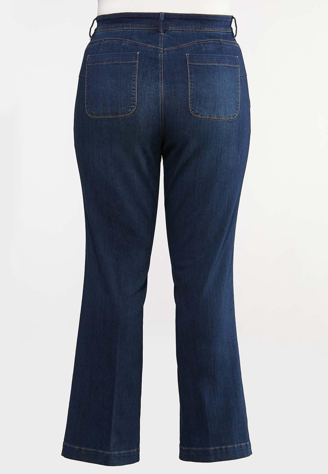 Plus Size Dark Wash Bootcut Jeans (Item #44095722)