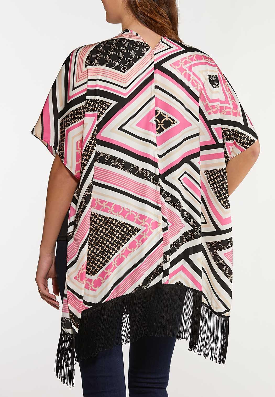 Diamond Geo Fringe Kimono (Item #44095863)