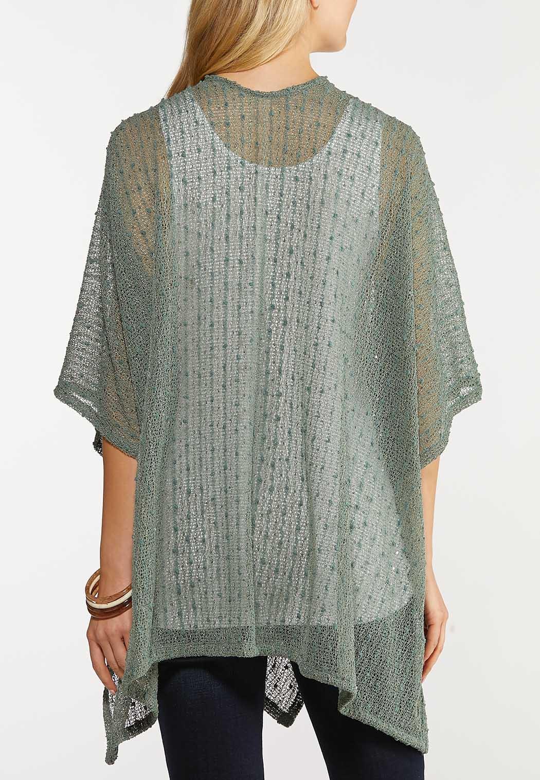 Sequin Textured Kimono (Item #44095874)