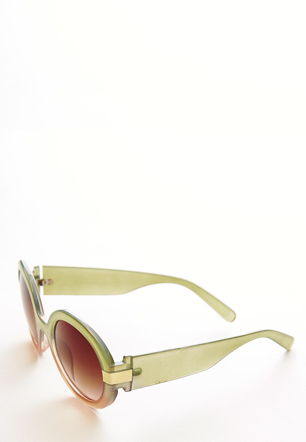 Two-Tone Round Sunglasses (Item #44097515)