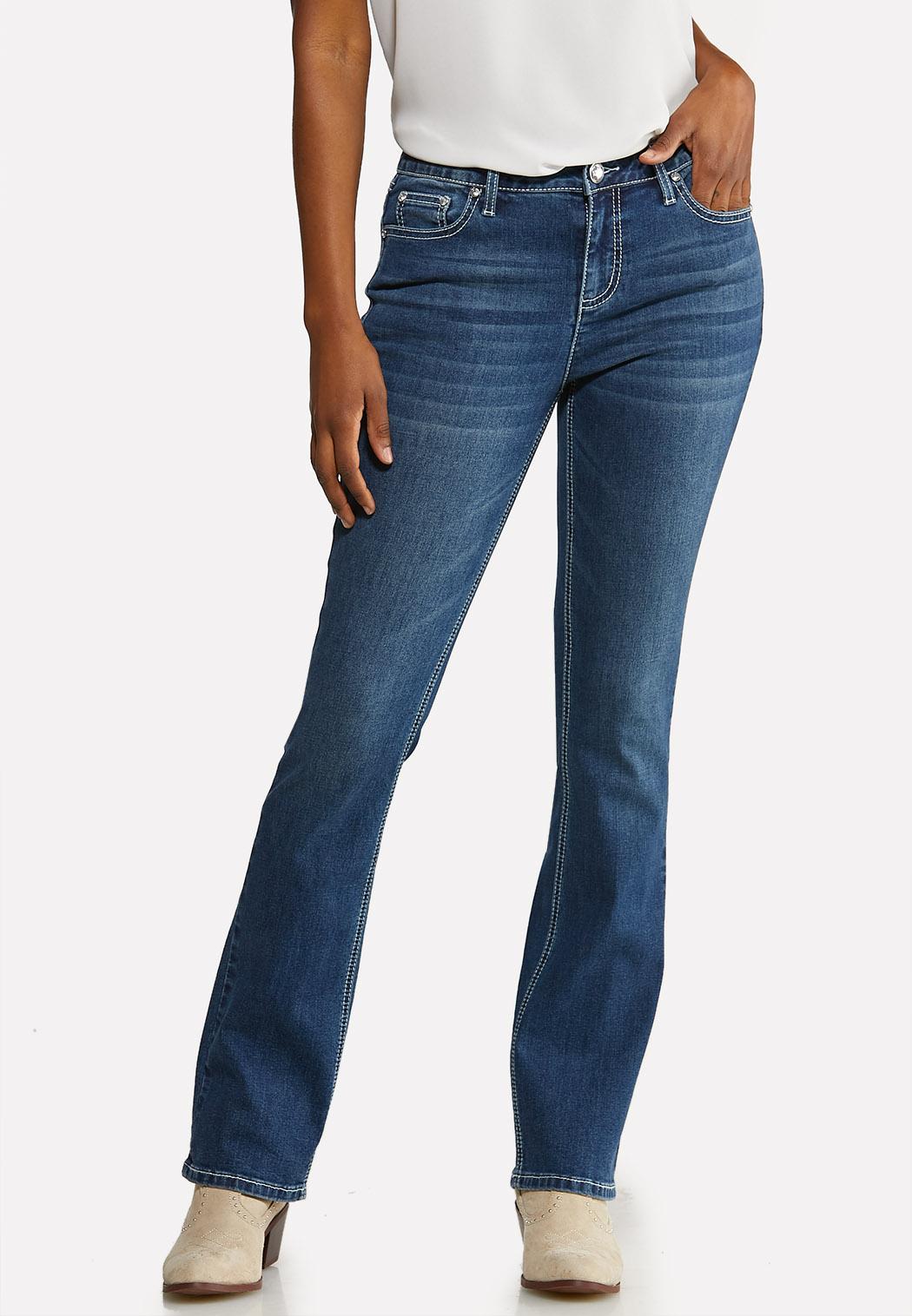 Petite Sequin Embellished Pocket Jeans (Item #44097800)