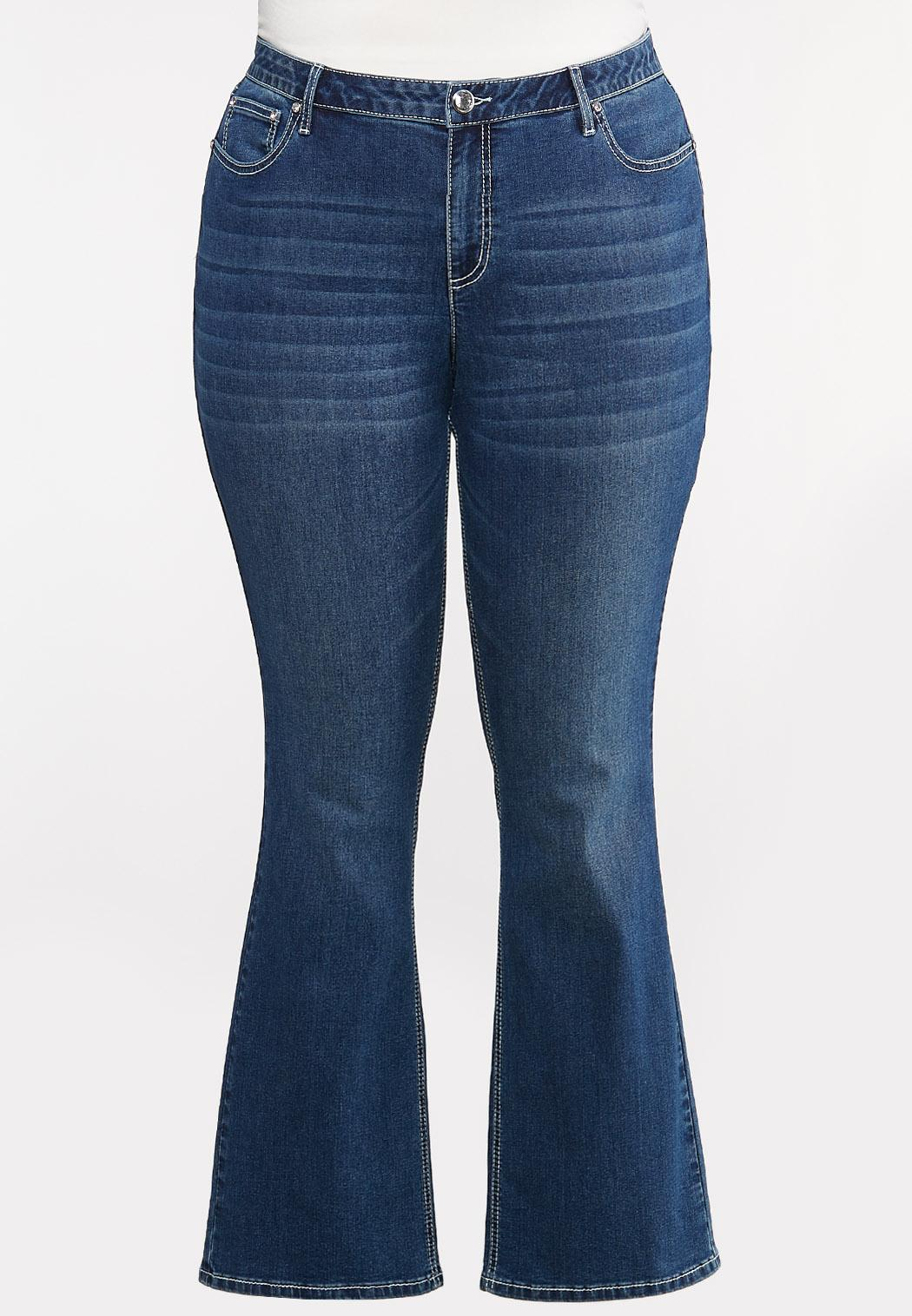 Plus Petite Sequin Embellished Pocket Jeans (Item #44098146)