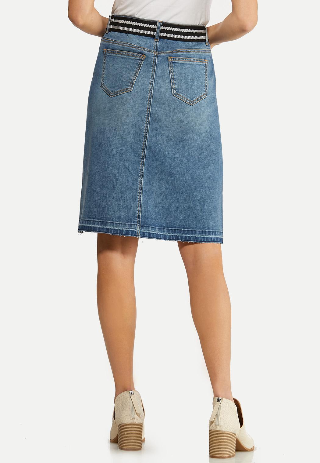 Belted Denim Skirt (Item #44098249)