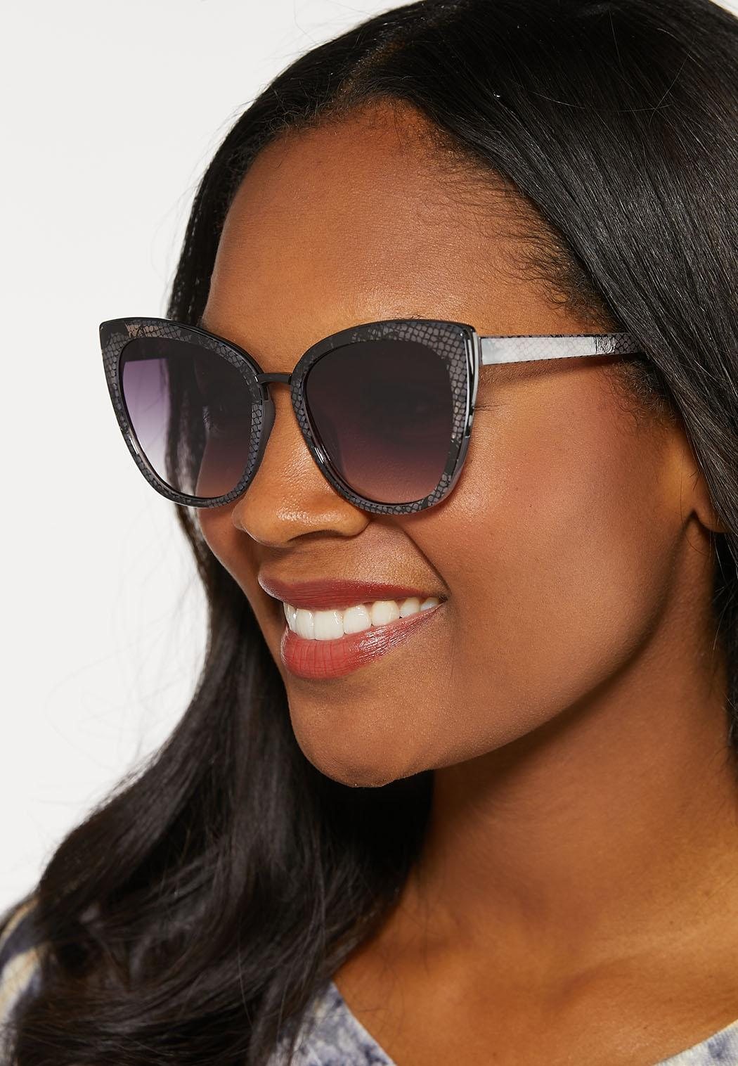 Snakeskin Cateye Sunglasses (Item #44098339)