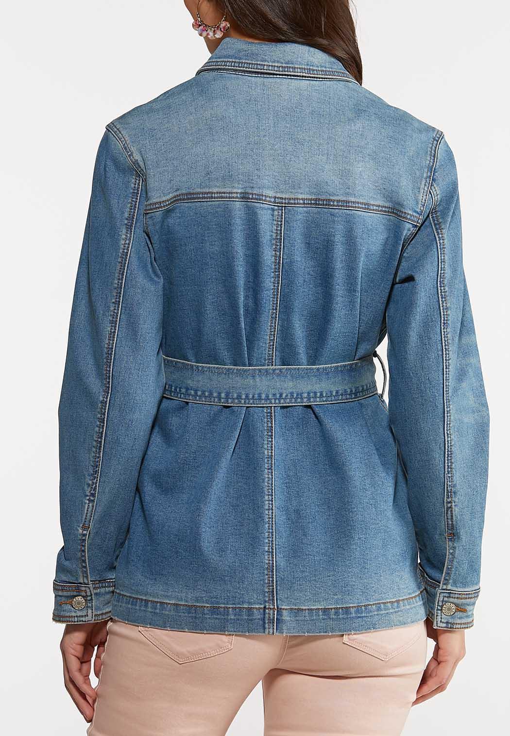 Belted Denim Jacket (Item #44098343)